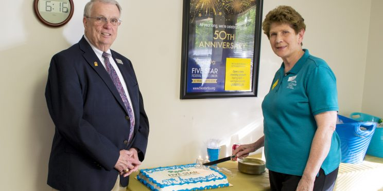 Cutting the 50th Anniversary Cake