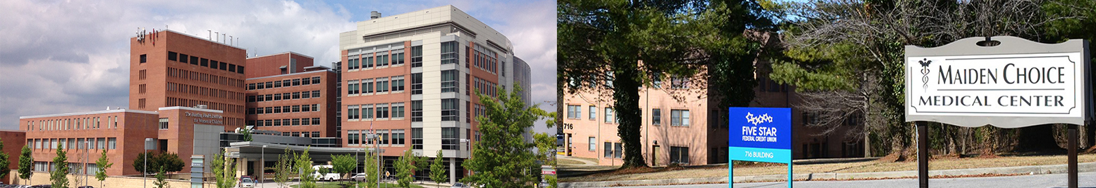 Our offices are in Saint Agnes Hospital and Catonsville.