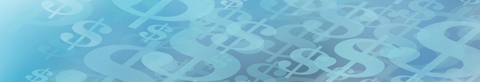 blue dollar sign design