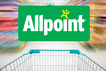 grocery cart and Allpoint ATM logo